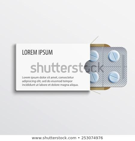 Tabletták laboratórium drogok vegyi tabletta egészségügy Stock fotó © nenovbrothers