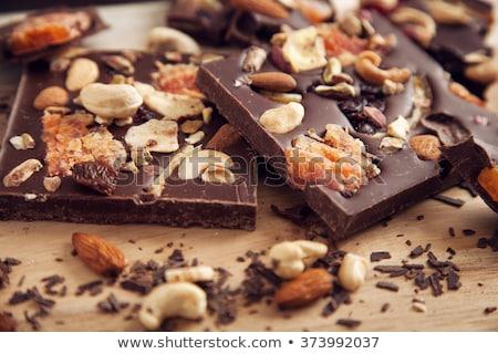 dried fruit with chocolate Stock photo © phbcz