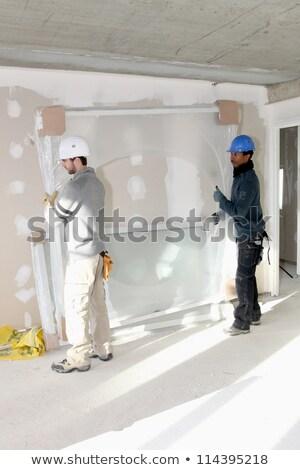 Dwa apartamentu człowiek pracy domu kolor Zdjęcia stock © photography33