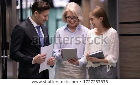 Imprenditore maturo segretario consulenza agenda business Foto d'archivio © photography33