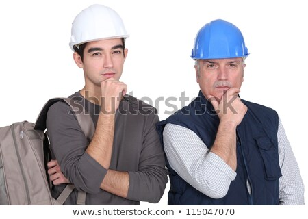 young apprentice and older instructor looking puzzled stock photo © photography33