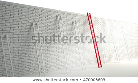 Ladder over wall Stock photo © dengess