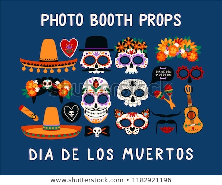 halloween booth props vector stock photo © beaubelle