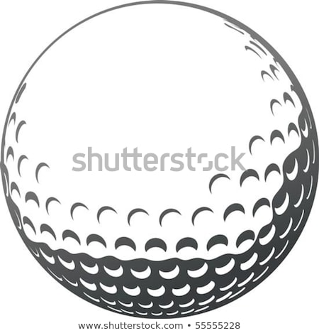 Stock photo: Golf ball with tee in the grass on white