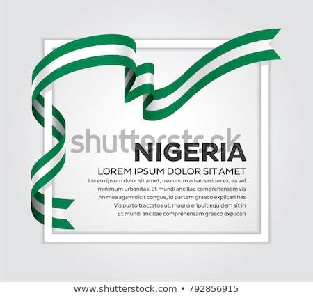kleuren · Nigeria · jas · armen · kaart · vlag - stockfoto © perysty