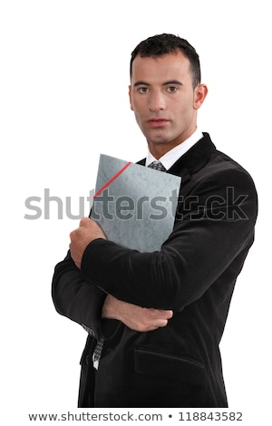Young law graduate holding folder Stock photo © photography33