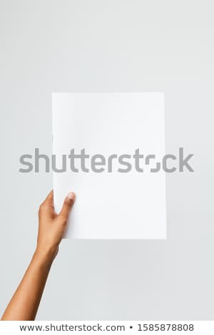 hand holding up the letter A from the left Stock photo © stryjek