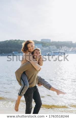 Happy couple running on each stock photo © pkirillov