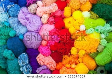 Colorido hilados agujas cesta Foto stock © elly_l