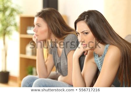 Kettő lányok néz boldog tini barátok Stock fotó © rosipro
