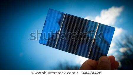 太陽 · 太陽光発電 · 加熱 · パネル · 屋根 - ストックフォト © Rob300