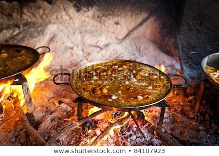 Gotowania ognia miejscowy ryb morza kuchnia Zdjęcia stock © david010167