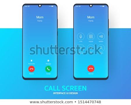 Azul telefone botão vetor eps negócio Foto stock © djdarkflower