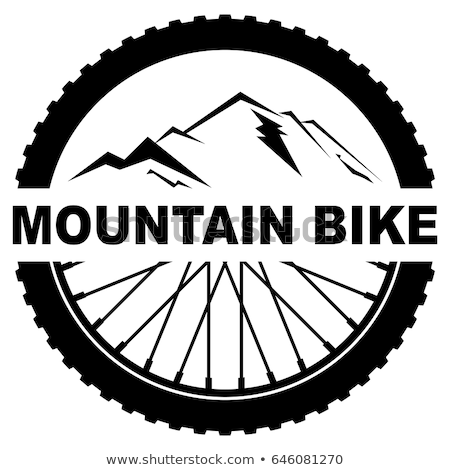 ベクトル 自転車 ホイール 山 道路 マウンテンバイク ストックフォト © squarelogo