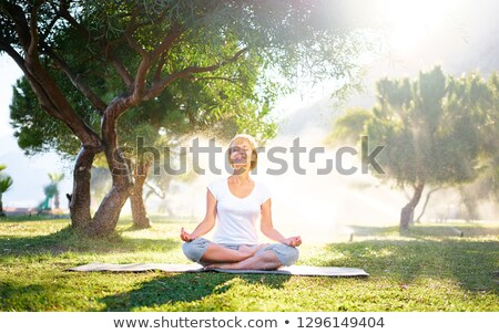 Mature woman meditating Stock photo © Farina6000