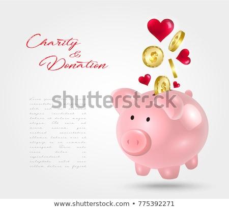 Donation Box and Piggy bank Stock photo © devon