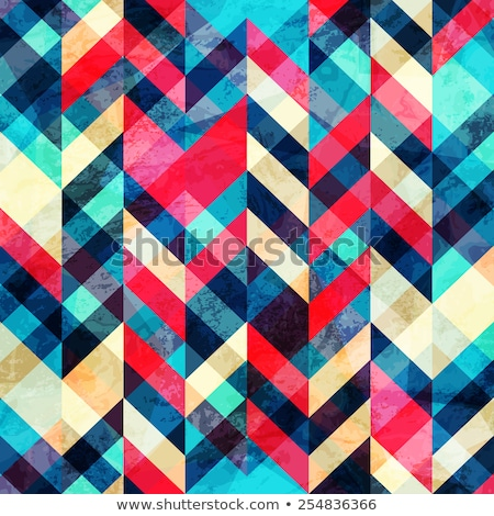 Naadloos kleurrijk zigzag patroon gekleurd Stockfoto © OlgaDrozd