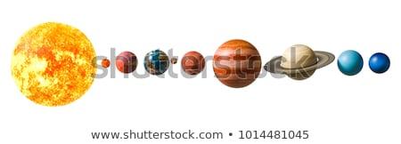 lua · espaço · ilustração · 3d · sol · estrelas · solar - foto stock © elenarts