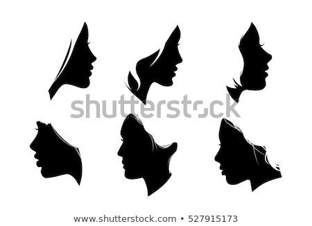 perfil · mujeres · cara · sereno · retrato - foto stock © iofoto