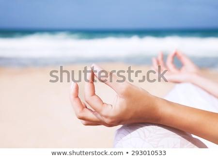 közelkép · női · test · meditál · fókusz · ujjak - stock fotó © HASLOO