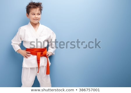 Karate zöld fehér férfi Stock fotó © mayboro1964