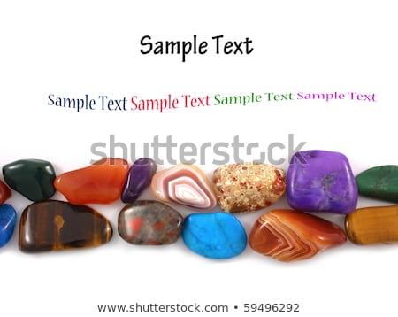 Stockfoto: Klein · stenen · juwelen · macro · geïsoleerd · witte