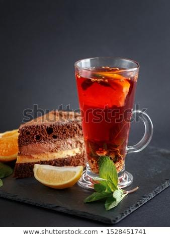 Cup tè piatto vetro verde bere Foto d'archivio © Zerbor