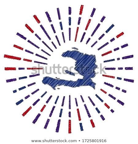 Bandiera Haiti mano colore paese stile Foto d'archivio © claudiodivizia