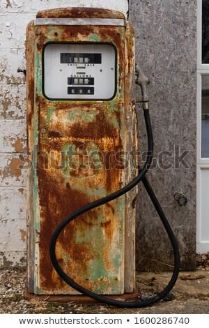 american oil station old and aged grunge stock photo © lunamarina