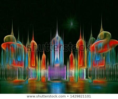 抽象的な フラクタル テクスチャ デザイン ストックフォト © ArenaCreative