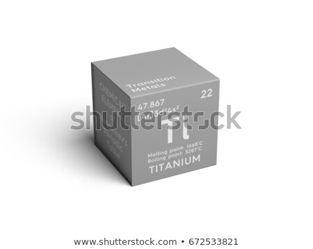 Symbol for the chemical element titanium Stock photo © Zerbor