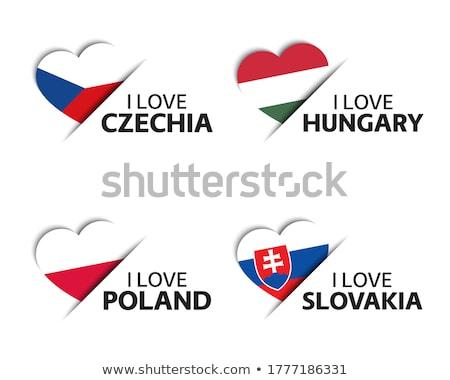 Ayarlamak düğmeler Slovakya parlak renkli Stok fotoğraf © flogel
