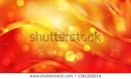 Stockfoto: Foto · Rood · Geel · bokeh · lichten · christmas