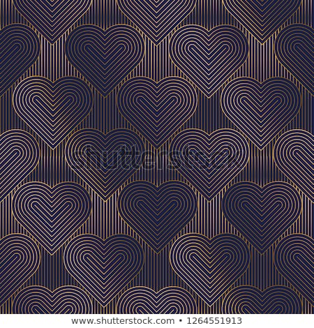 heart with geometric pattern, vector Stock photo © beaubelle