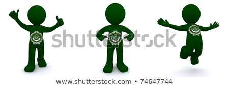 3d character textured with flag of League of Arab States Stock photo © Kirill_M