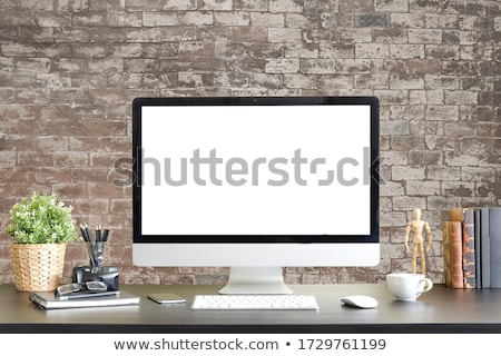 Stock photo: Desktop computer