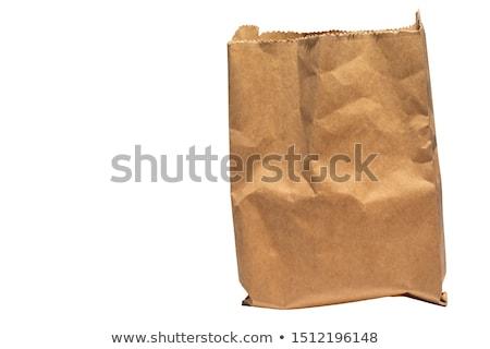 空っぽ · オープン · 袋 · 食品 · 孤立した - ストックフォト © neirfy