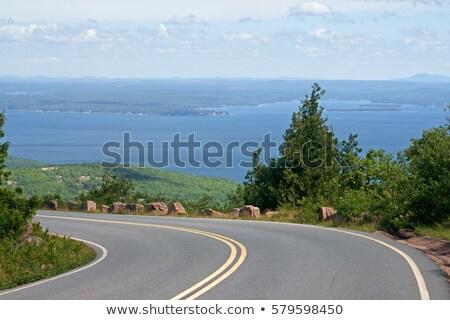 Munte vedere top deşert insulă parc Imagine de stoc © ca2hill