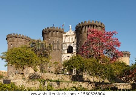 Неаполь средневековых замок Италия здании архитектура Сток-фото © sailorr