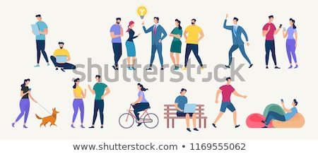 Flat people - relationships Stock photo © AnatolyM