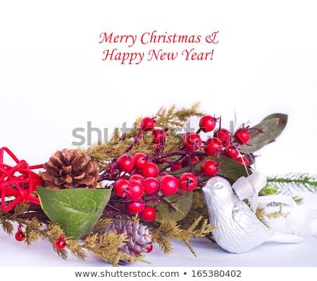 karácsonyfa · keret · zöld · nagy · arany · játék - stock fotó © elmiko