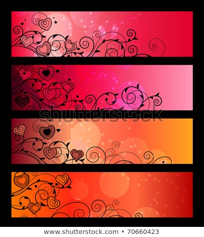 kalpler · vektör · mektup · kırmızı · renk · kutlama - stok fotoğraf © burakowski