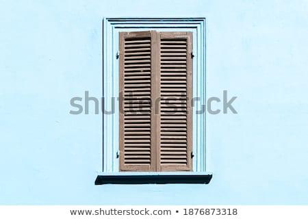 Olasz stílus fából készült ablak zárva redőny Stock fotó © stevanovicigor