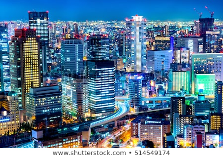 osaka skyline stock photo © vichie81