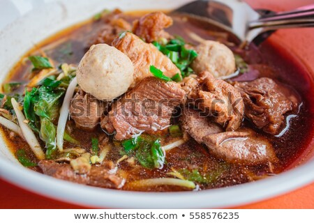 Beef Noodle Soup with Meatballs stock photo © davidgn