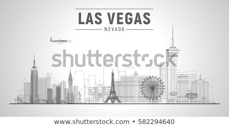 Innenstadt Las Vegas willkommen Zeichen Baum Stadt Stock foto © meinzahn