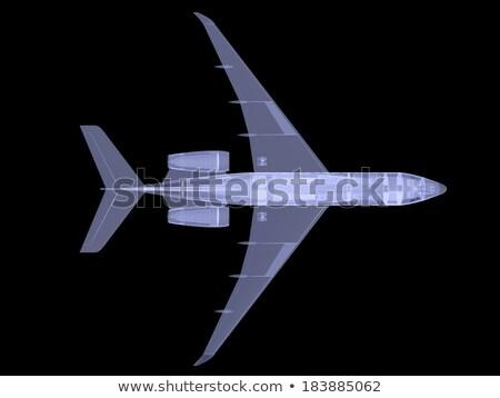 Plane with internal equipment. X-ray image Stock photo © cherezoff