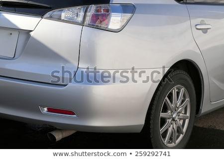 Vermelho lado espelho branco carro gotas de água Foto stock © rglinsky77