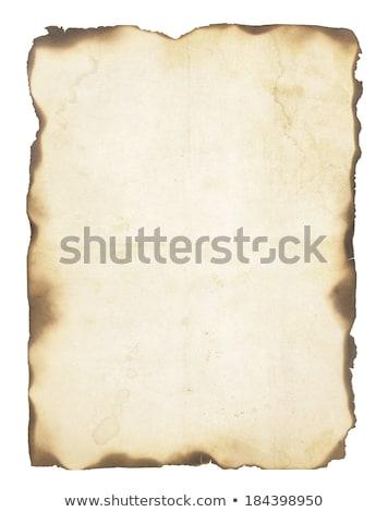 Foto stock: Papel · velho · velho · papel · fogo · quarto