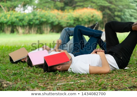 怠惰な 学生 脚 表 いたずら書き 図面 ストックフォト © stevanovicigor